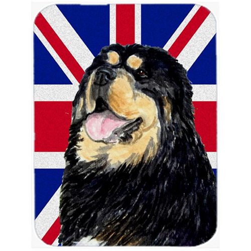 Carolines Treasures SS4954MP 7.75 x 9.25 In. Tibetan Spaniel With English Union Jack British Flag Mouse Pad Hot Pad Or Trivet