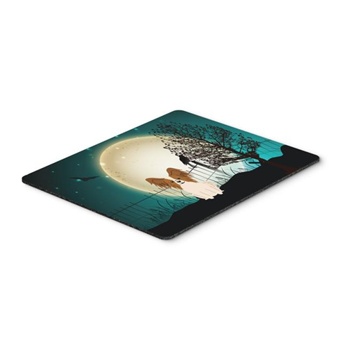 Carolines Treasures BB2268MP Halloween Scary Papillon Red & White Mouse Pad Hot Pad or Trivet