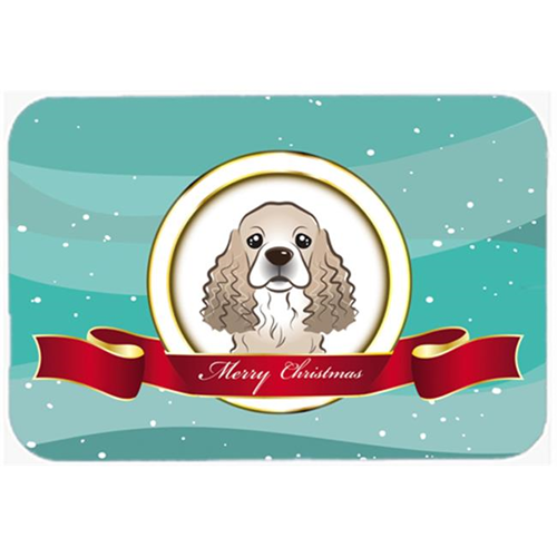 Carolines Treasures BB1526MP Cocker Spaniel Merry Christmas Mouse Pad Hot Pad & Trivet