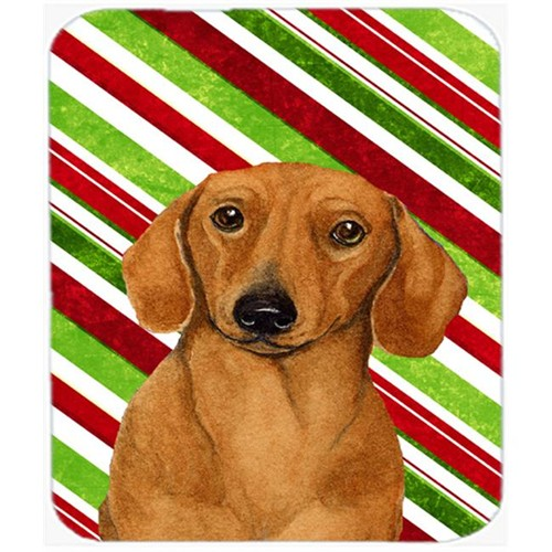 Carolines Treasures LH9222MP Dachshund Candy Cane Holiday Christmas Mouse Pad Hot Pad Or Trivet