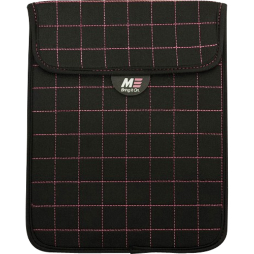 Mobile Edge MESST110X NeoGrid Sleeve for iPad and 10 in. Tablets - Black-Pink Stitching