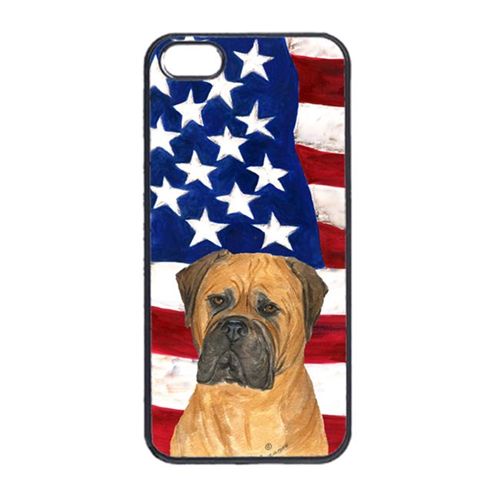 Carolines Treasures SS4001IP4 USA American Flag With Bullmastiff Iphone 4 Cover