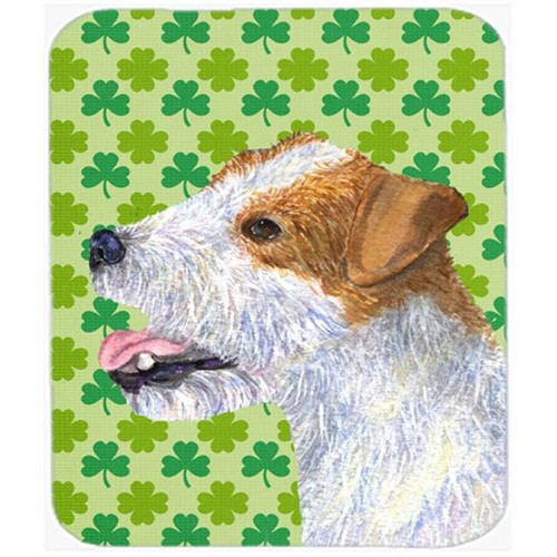 Carolines Treasures SS4435MP Jack Russell Terrier St. Patricks Day Shamrock Mouse Pad Hot Pad Or Trivet