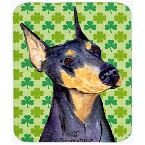 Carolines Treasures SS4426MP Doberman St. Patricks Day Shamrock Portrait Mouse Pad Hot Pad Or Trivet