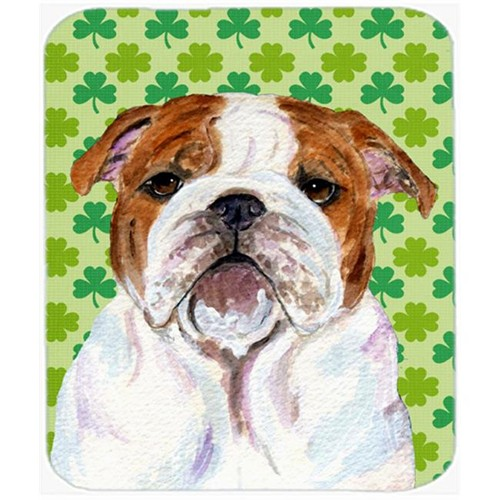 Carolines Treasures SS4415MP Bulldog English St. Patricks Day Shamrock Mouse Pad Hot Pad Or Trivet