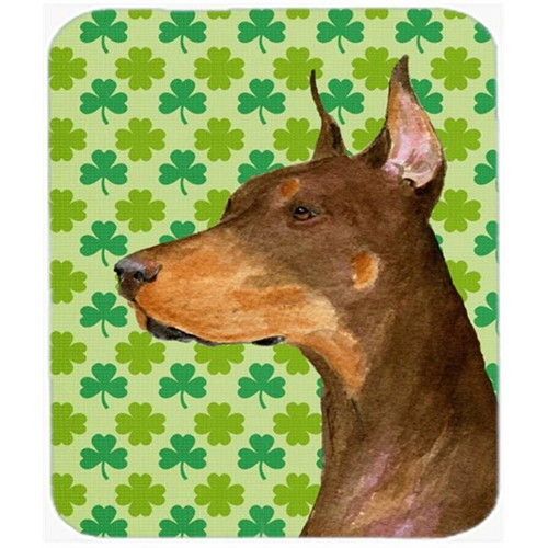 Carolines Treasures SS4399MP Doberman St. Patricks Day Shamrock Portrait Mouse Pad Hot Pad Or Trivet