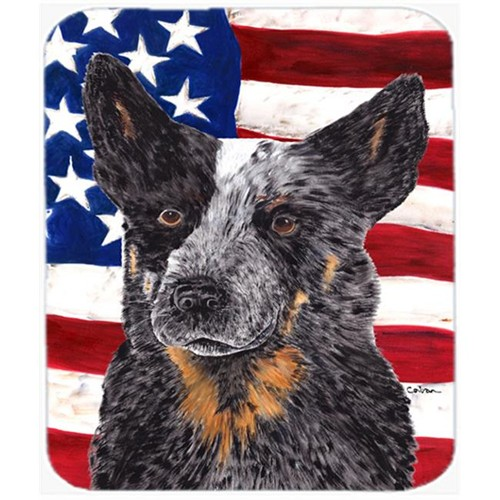 Carolines Treasures SC9109MP Usa American Flag With Australian Cattle Dog Mouse Pad Hot Pad Or Trivet
