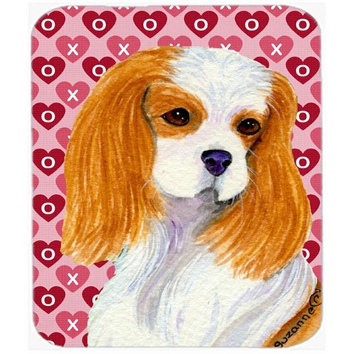 Carolines Treasures SS4527MP Cavalier Spaniel Hearts Love And Valentines Day Mouse Pad Hot Pad Or Trivet