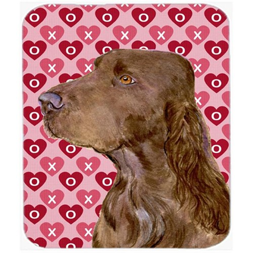 Carolines Treasures SS4525MP Field Spaniel Hearts Love And Valentines Day Mouse Pad Hot Pad Or Trivet