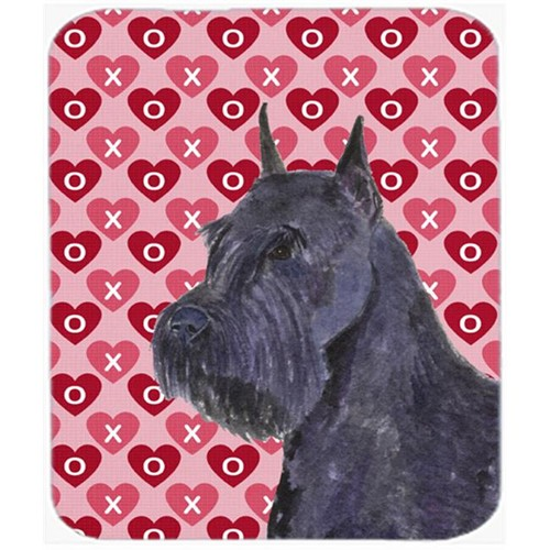 Carolines Treasures SS4523MP Schnauzer Hearts Love And Valentines Day Portrait Mouse Pad Hot Pad Or Trivet