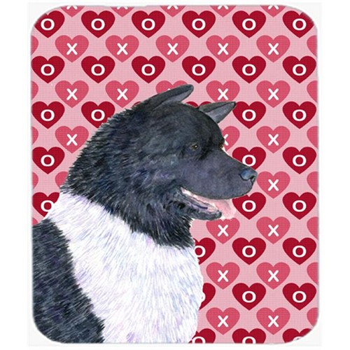 Carolines Treasures SS4521MP Akita Hearts Love And Valentines Day Portrait Mouse Pad Hot Pad Or Trivet