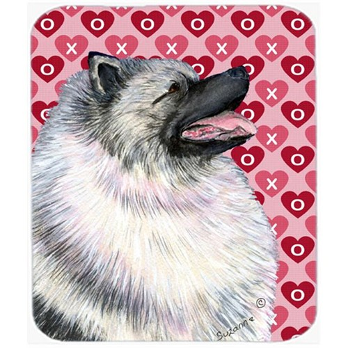 Carolines Treasures SS4488MP Keeshond Hearts Love And Valentines Day Portrait Mouse Pad Hot Pad Or Trivet