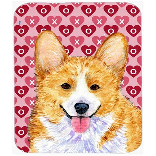 Carolines Treasures SS4486MP Corgi Hearts Love And Valentines Day Portrait Mouse Pad Hot Pad Or Trivet
