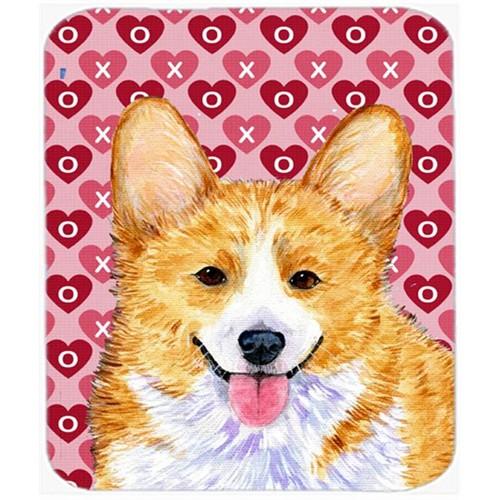 Carolines Treasures SS4486MP Corgi Hearts Love And Valentines Day Portrait Mouse Pad Hot Pad Or Trivet
