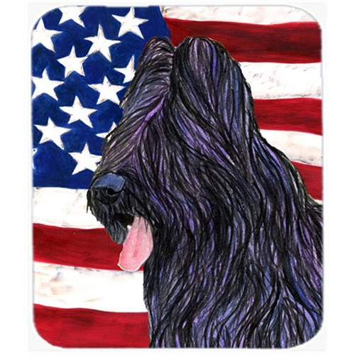 Carolines Treasures SS4052MP Usa American Flag With Briard Mouse Pad Hot Pad Or Trivet