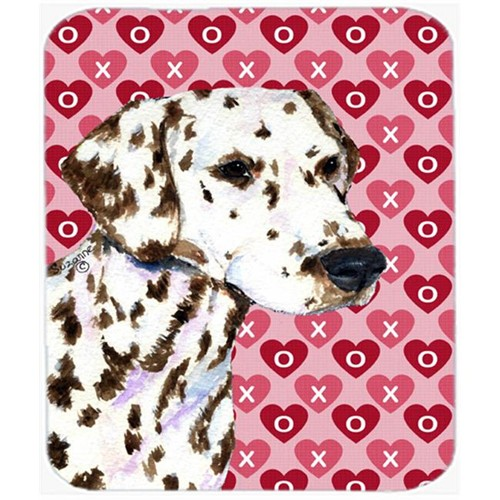 Carolines Treasures SS4469MP Dalmatian Hearts Love And Valentines Day Portrait Mouse Pad Hot Pad Or Trivet