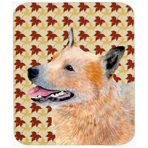 Carolines Treasures LH9092MP Australian Cattle Dog Fall Leaves Portrait Mouse Pad Hot Pad Or Trivet