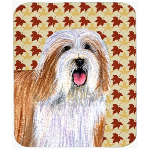 Carolines Treasures LH9105MP Bearded Collie Fall Leaves Portrait Mouse Pad Hot Pad or Trivet