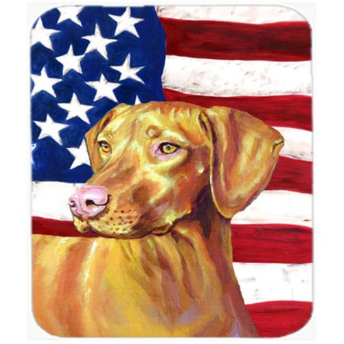 Carolines Treasures LH9012MP 9.5 x 8 in. USA American Flag with Vizsla Mouse Pad Hot Pad or Trivet
