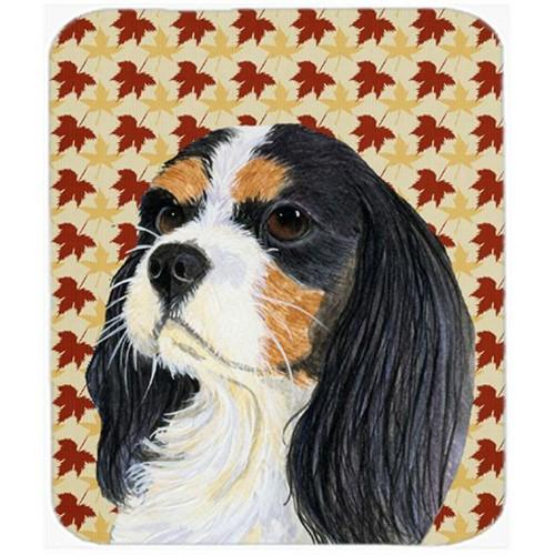 Carolines Treasures LH9099MP Cavalier Spaniel Fall Leaves Portrait Mouse Pad Hot Pad Or Trivet