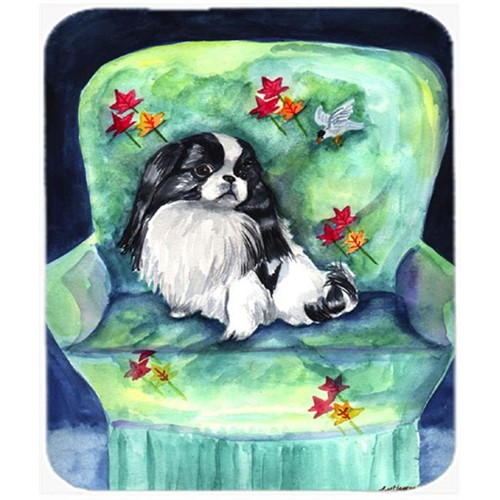Carolines Treasures 7034MP 9.5 x 8 in. Japanese Chin in Mommas Chair Mouse Pad Hot Pad or Trivet