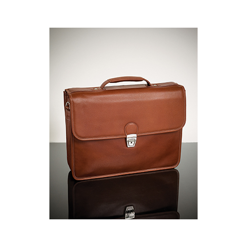 Mcklein 15144 Ashburn S Series Leather Laptop Case - Brown