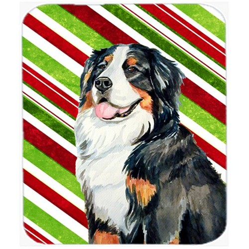Carolines Treasures LH9244MP Bernese Mountain Dog Candy Cane Holiday Christmas Mouse Pad Hot Pad Or Trivet