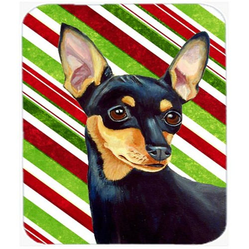 Carolines Treasures LH9245MP Min Pin Candy Cane Holiday Christmas Mouse Pad Hot Pad Or Trivet