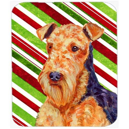 Carolines Treasures LH9246MP Airedale Candy Cane Holiday Christmas Mouse Pad Hot Pad Or Trivet