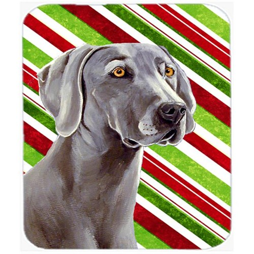 Carolines Treasures LH9251MP Weimaraner Candy Cane Holiday Christmas Mouse Pad Hot Pad Or Trivet