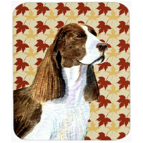 Carolines Treasures SS4343MP Springer Spaniel Fall Leaves Portrait Mouse Pad Hot Pad Or Trivet