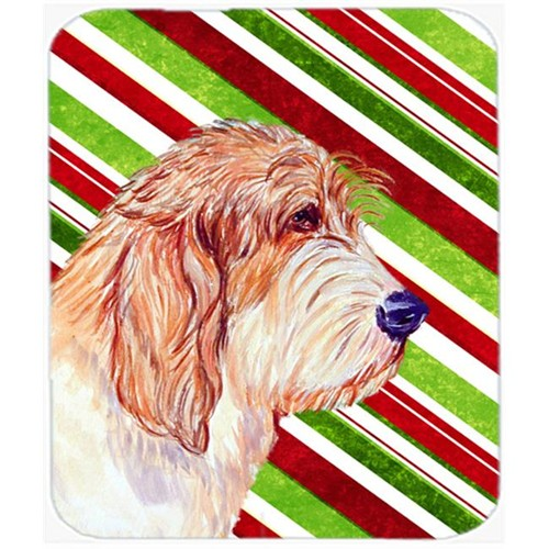 Carolines Treasures LH9262MP Petit Basset Griffon Vendeen Candy Cane Christmas Mouse Pad Hot Pad Or Trivet