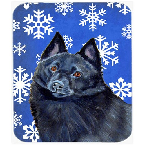 Carolines Treasures LH9294MP Schipperke Winter Snowflakes Holiday Mouse Pad Hot Pad Or Trivet