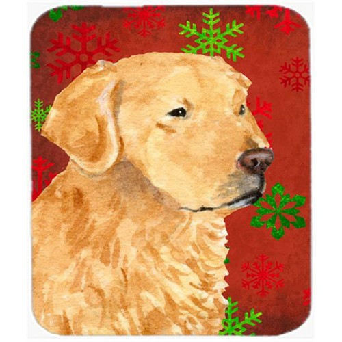 Carolines Treasures SS4683MP Golden Retriever Red Green Snowflakes Christmas Mouse Pad Hot Pad or Trivet