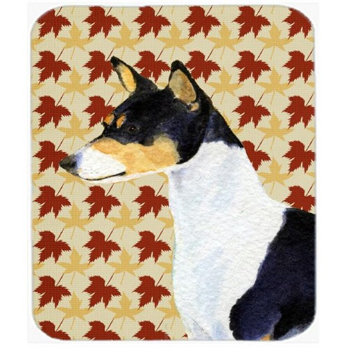 Carolines Treasures SS4342MP Basenji Fall Leaves Portrait Mouse Pad Hot Pad Or Trivet