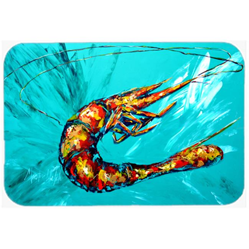 Carolines Treasures MW1100MP Shrimp Teal Shrimp Mouse Pad Hot Pad or Trivet