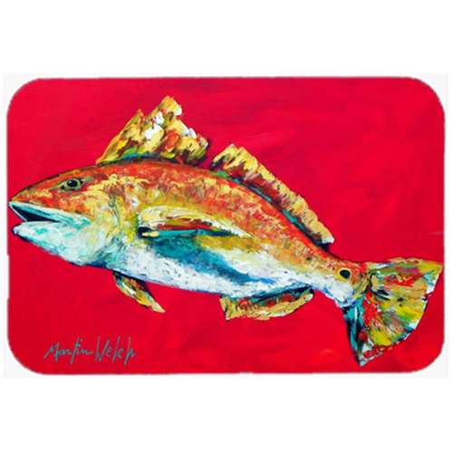 Carolines Treasures MW1103MP Fish - Red Fish Woo Hoo Mouse Pad Hot Pad or Trivet