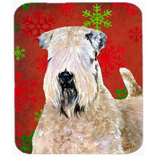 Carolines Treasures SS4700MP Wheaten Terrier Soft Coated Snowflakes Christmas Mouse Pad Hot Pad or Trivet