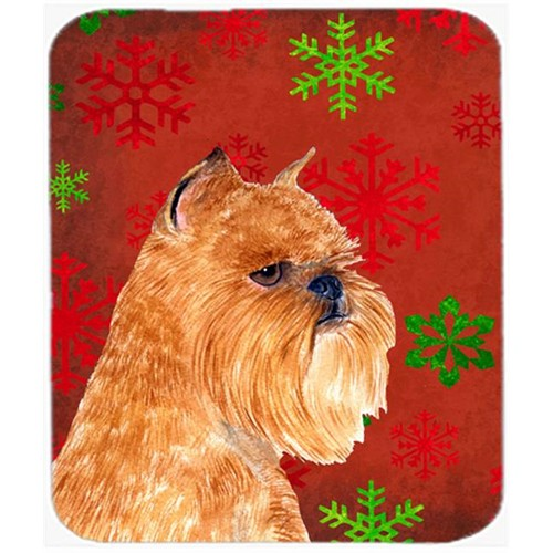 Carolines Treasures SS4701MP Brussels Griffon Snowflakes Holiday Christmas Mouse Pad Hot Pad or Trivet