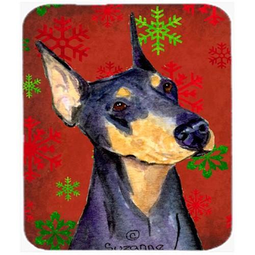 Carolines Treasures SS4702MP Doberman Snowflakes Holiday Christmas Mouse Pad Hot Pad or Trivet