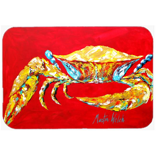 Carolines Treasures MW1116MP Crab Blue on Red Sr. Mouse Pad Hot Pad or Trivet