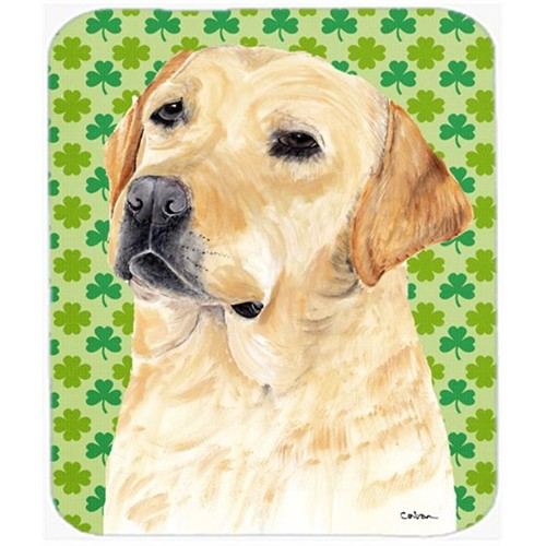 Carolines Treasures SC9296MP Labrador Yellow St. Patricks Day Shamrock Mouse Pad Hot Pad or Trivet