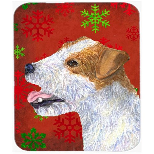Carolines Treasures SS4711MP Jack Russell Terrier Snowflakes Holiday Christmas Mouse Pad Hot Pad or Trivet