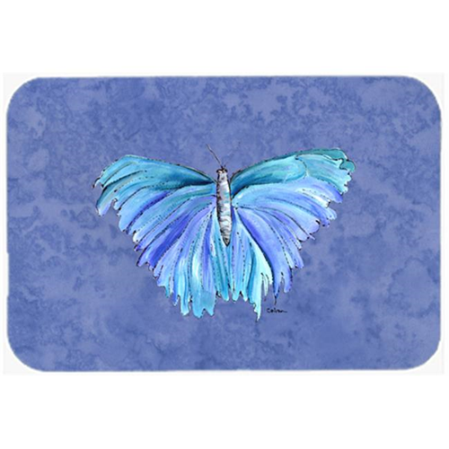 Carolines Treasures 8855MP Butterfly on Slate Blue Mouse Pad Hot Pad or Trivet