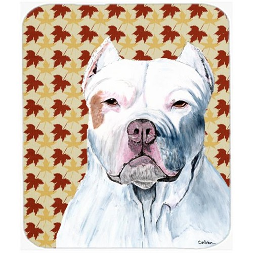 Carolines Treasures SC9221MP Pit Bull Fall Leaves Portrait Mouse Pad Hot Pad or Trivet