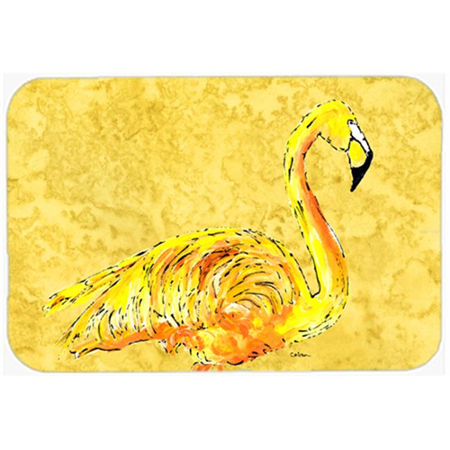 Carolines Treasures 8872MP 9.5 x 8 in. Flamingo on Yellow Mouse Pad Hot Pad or Trivet