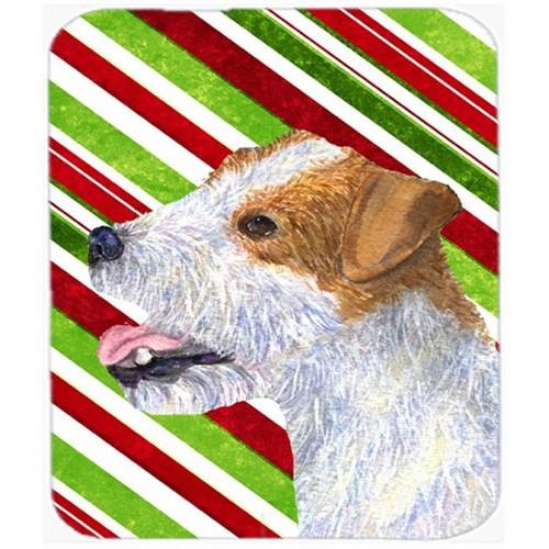 Carolines Treasures SS4573MP Jack Russell Terrier Candy Cane Holiday Christmas Mouse Pad Hot Pad Or Trivet