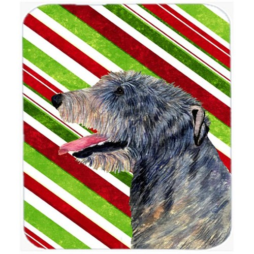 Carolines Treasures SS4575MP Irish Wolfhound Candy Cane Holiday Christmas Mouse Pad Hot Pad Or Trivet