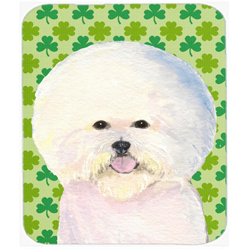 Carolines Treasures SS4457MP Bichon Frise St. Patricks Day Shamrock Portrait Mouse Pad Hot Pad Or Trivet