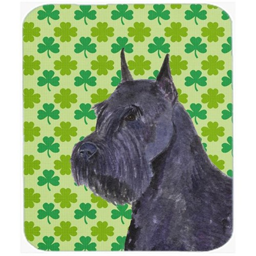 Carolines Treasures SS4454MP Schnauzer Giant St. Patricks Day Shamrock Mouse Pad Hot Pad Or Trivet